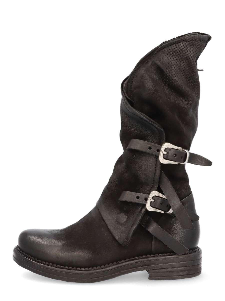 Asymmetric boots schwarz