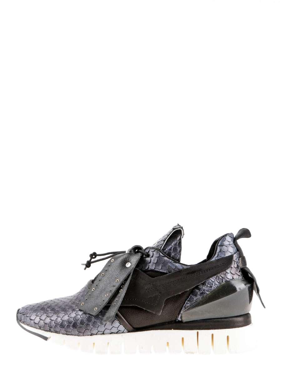 Runner sneakers nero snake