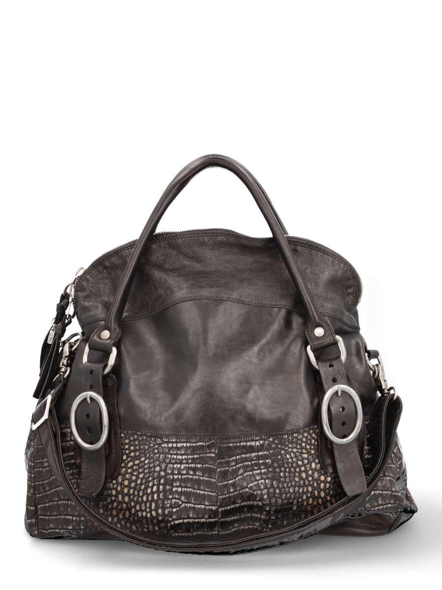 Handtasche nero croco