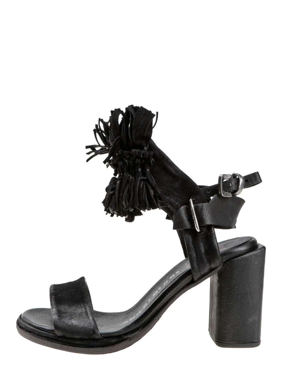 Fringe sandals nero