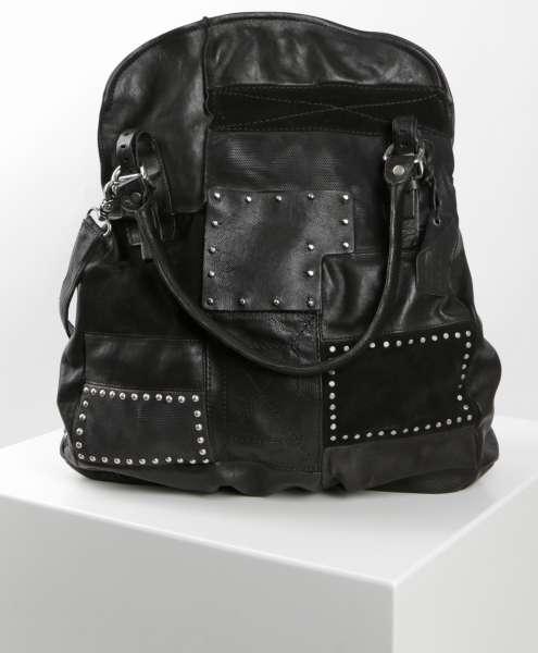 Patchwork bag nero