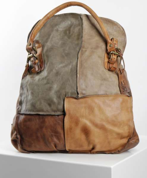 Patchwork bag castagna