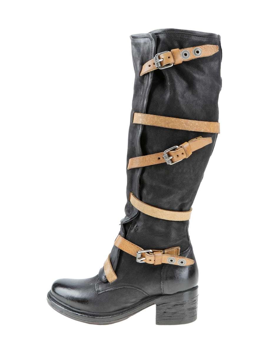 Buckle boots nero