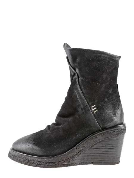 Wedge boots nero