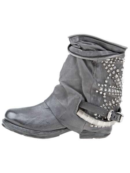Studded boots bestseller smoke