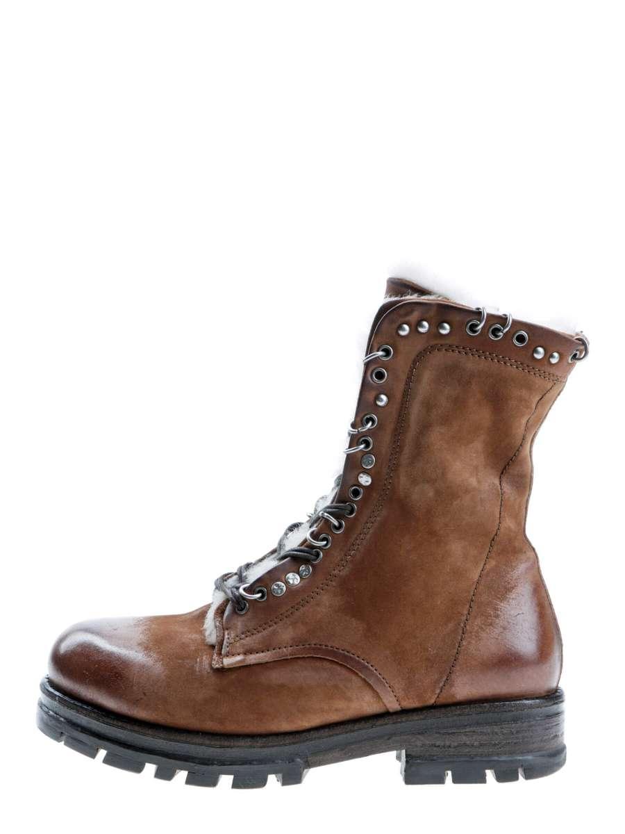 Studded boots cognac