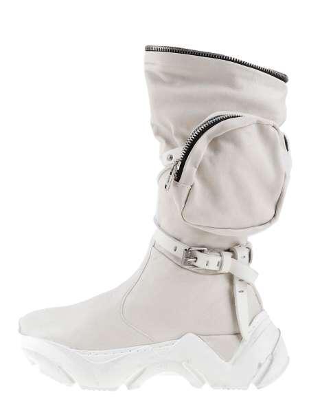 Chunky high top sneakers bianco