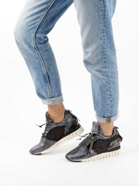 Runner Sneaker nero snake