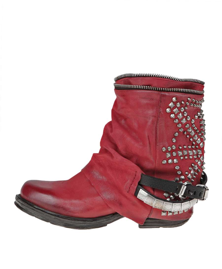Studded boots blood