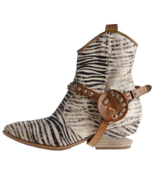 Animal print boots bianco