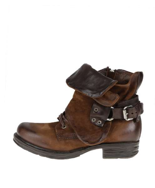 Cuffed boots calvados