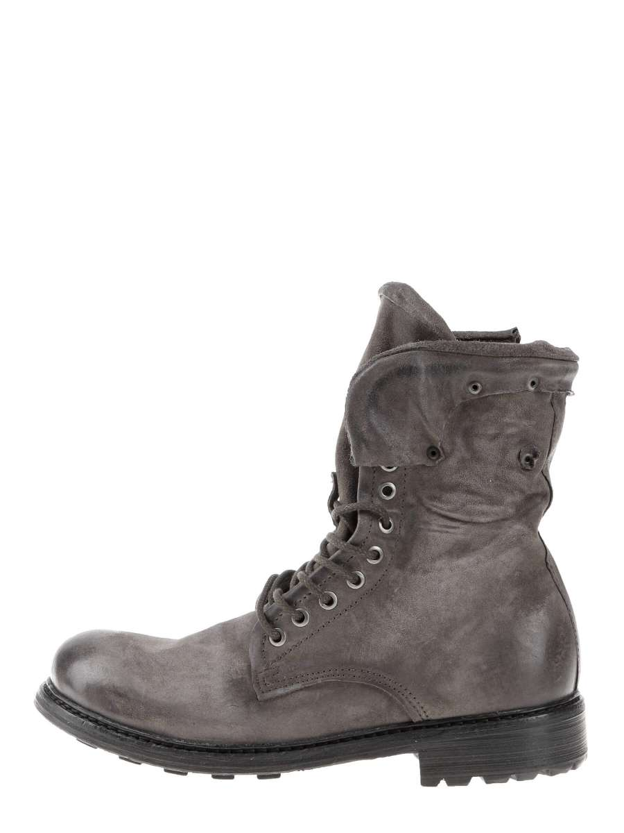 Laced boots grey