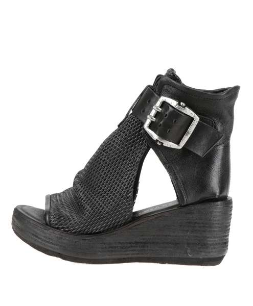 Ankle cuff sandals nero