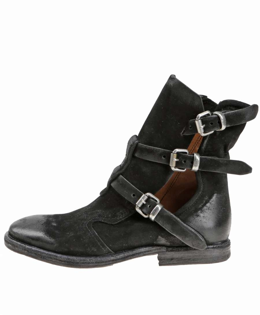Cut-out boots nero