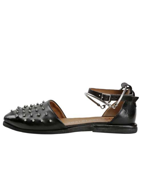 Studded ballerinas nero